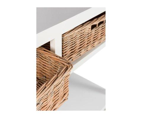 Console bohème en bois blanc avec tiroirs BOUCOTTE