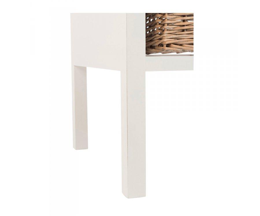Table de chevet bohème en bois avec tiroir BOUCOTTE