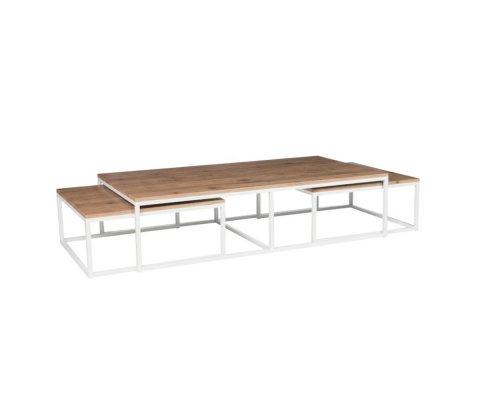 Table basse extenssible en bois et métal KASSOUMAYE