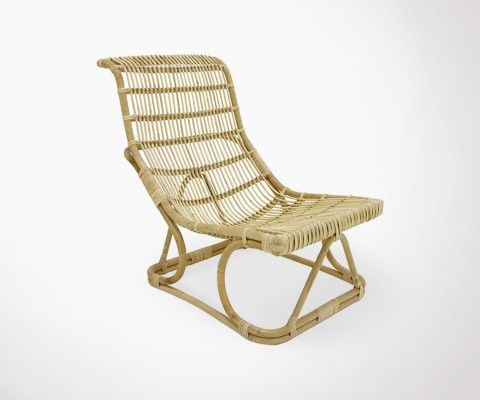 Natural rattan lounge chair ROSIO