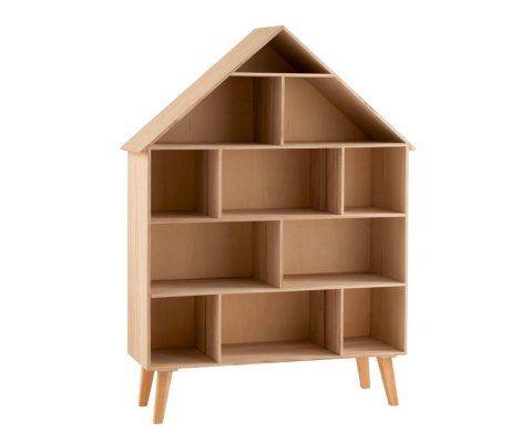 Etagère en bois 115cm forme maison DIAHO