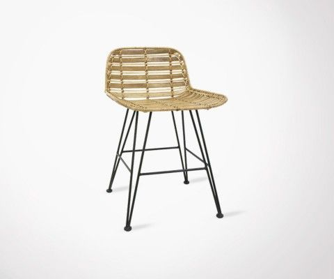 Tabouret de table rotin naturel HOKAIDO
