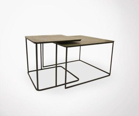 Lot 2 tables basse style art déco JUIK
