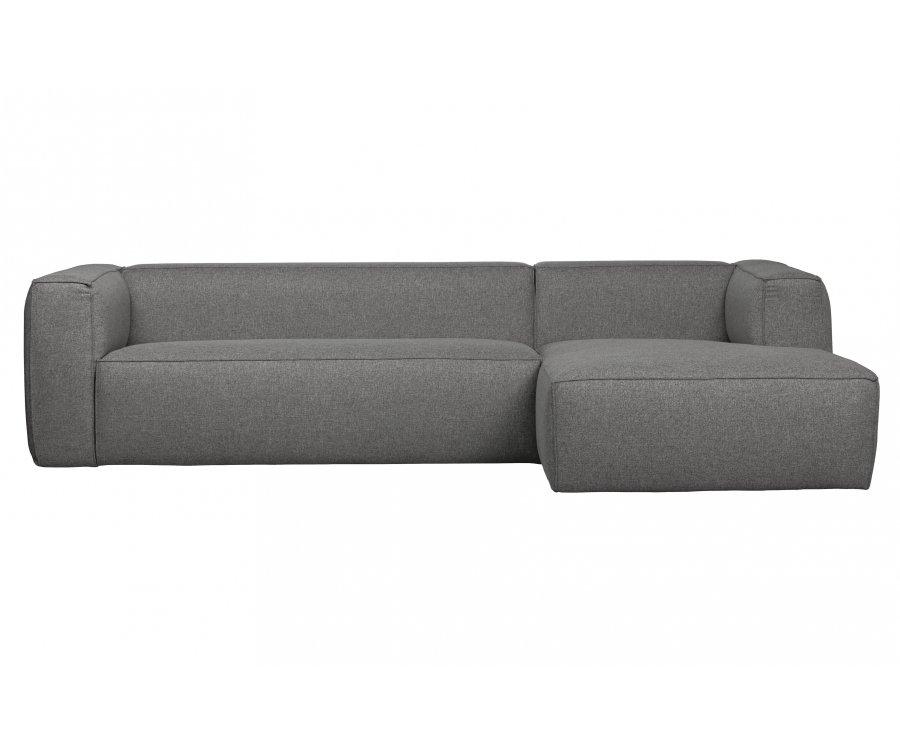 Canapé d'angle droit moderne en tissu BEAN
