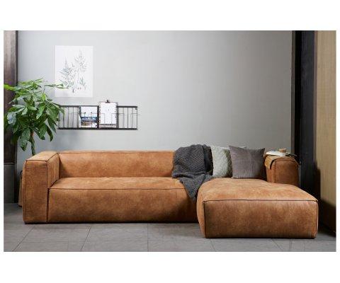 Canapé d'angle droit en cuir BEAN