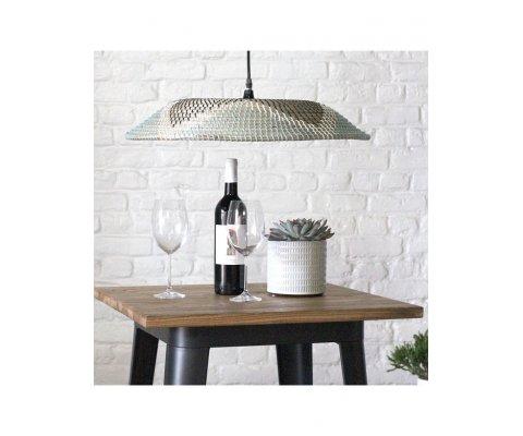 Table haute industrielle en bois et métal CHARLOTTE