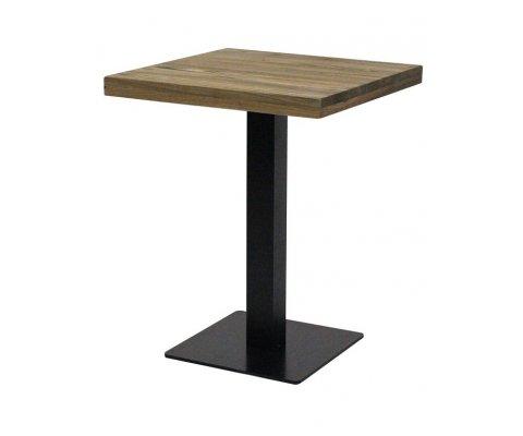 Table à manger carrée en bois et métal ADELINE
