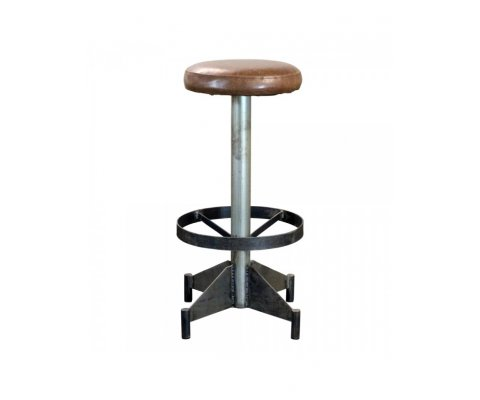 Tabouret industriel en simili MORGAN