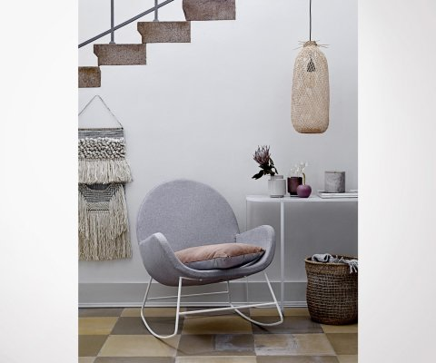 Rocking chair moderne en tissu VAYA - Bloomingville