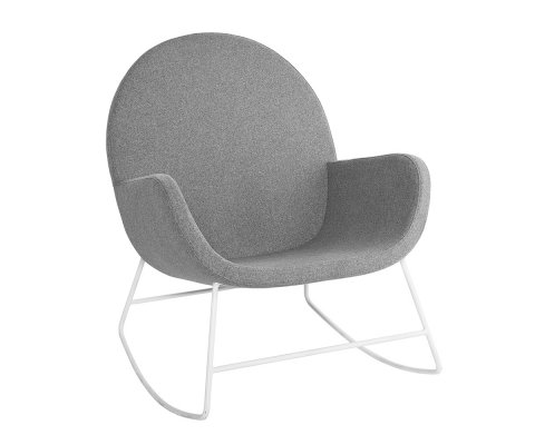 Rocking chair moderne en tissu gris VAYA - Bloomingville