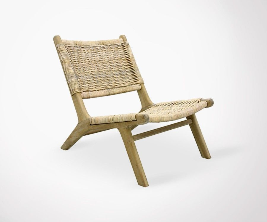 Chaise de repos bois et roseau BENTO