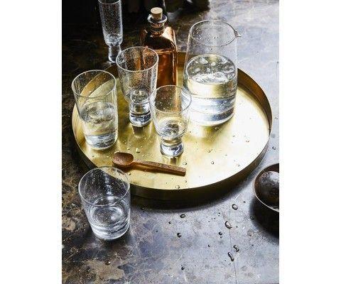 2 tables d'appoint métal style art déco GRALIA - plateau détachable