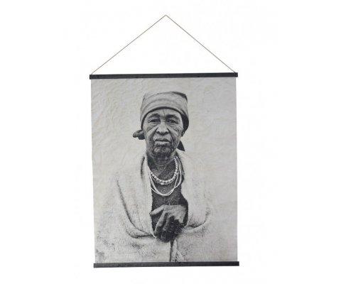 Tenture murale portrait noir et blanc DIOLA