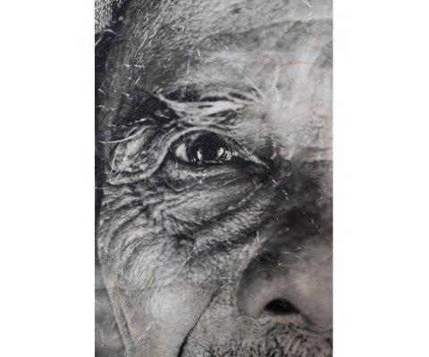 Tenture murale 122x94cm portrait WOLOF