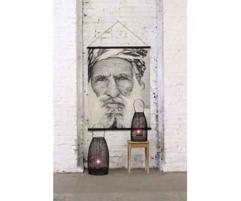 Grande tenture murale portrait en papier recyclé SERER