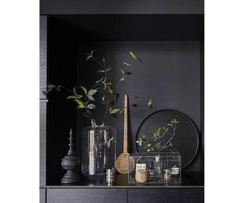 Table d'appoint métal noir et laiton doré FRANI