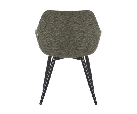 Lot de 2 chaises style rétro avec accoudoirs MOMAZ