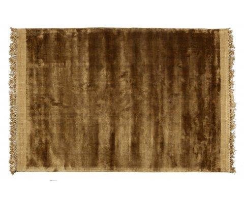 Tapis à franges en velours ochre 170x240cm RAVELLE