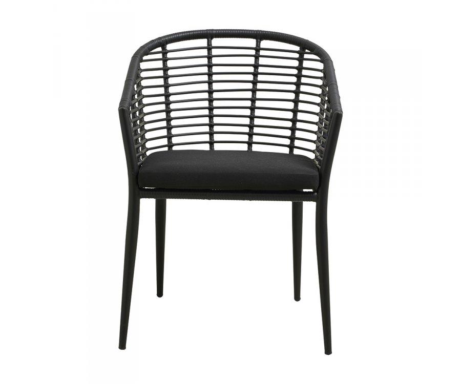 Chaise de jardin avec accoudoirs avec coussin TOKYA