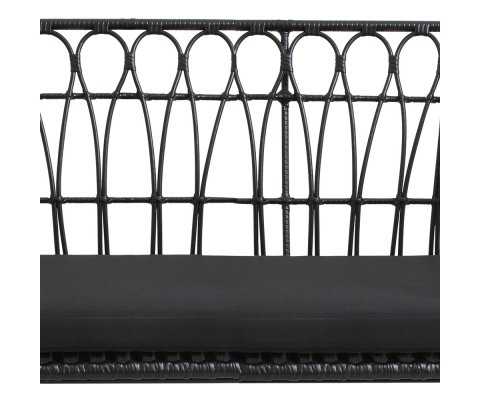 Canapé de jardin tendance métal noir MARIO