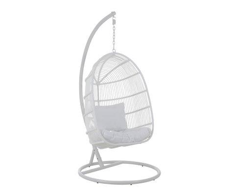 Fauteuil suspendu pour jardin en métal blanc CANARIA