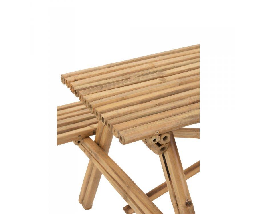 Table type pic nic 134cm en bambou SANTIAGO