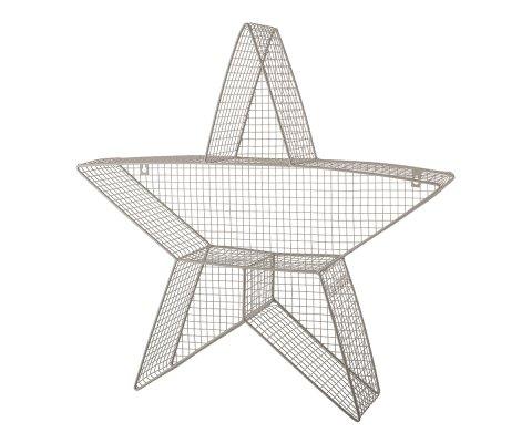 Etagère murale en forme d'étoile en métal gris ZAZOU