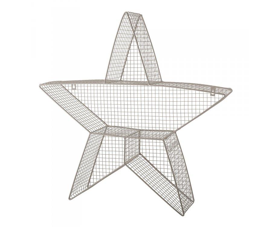 Lot de 2 étagères étoile murales en métal ZAZOU - Bloomingville
