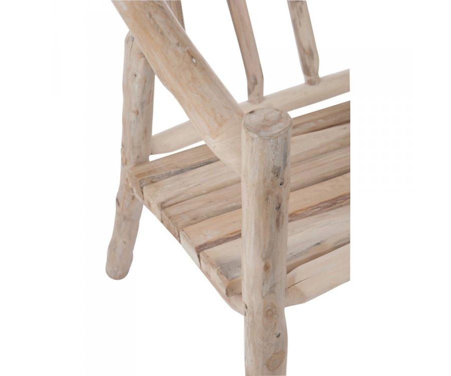 Chaise de jardin bohème en bois naturel ROZO