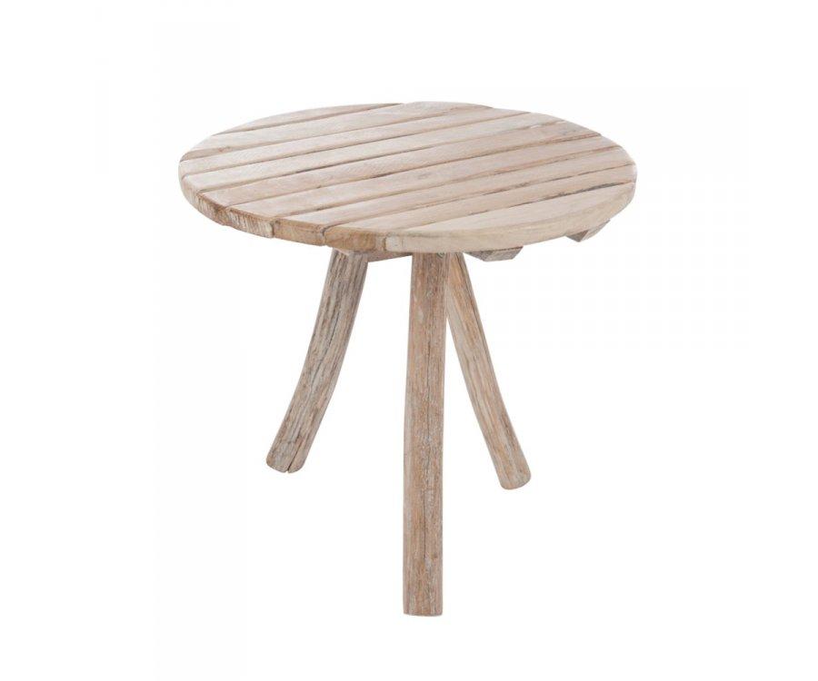 Table de jardin ronde en bois 75cm ROZO