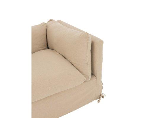 Canapé 220cm en tissu beige TEXAME