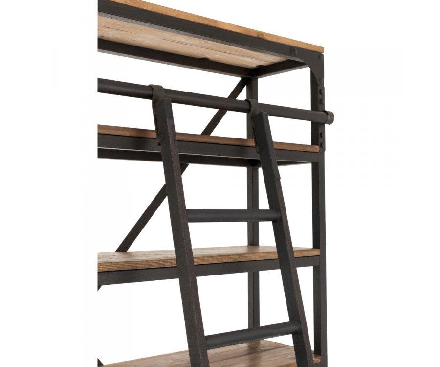 Grande bibliothèque en bois avec echelle MIZA