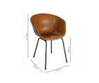 Chaise design simili cuir SHELBY