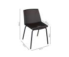 Lot 2 chaises design bi-matières HARONA