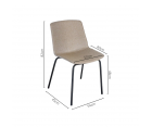 Chaise de salle à manger tapiséée HARONA - COD Furnitures