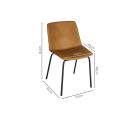 Lot 2 chaises design simili cuir HARONA