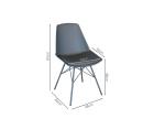 Chaise pieds métal assise rembourrée ANJI - Couleurs au choix