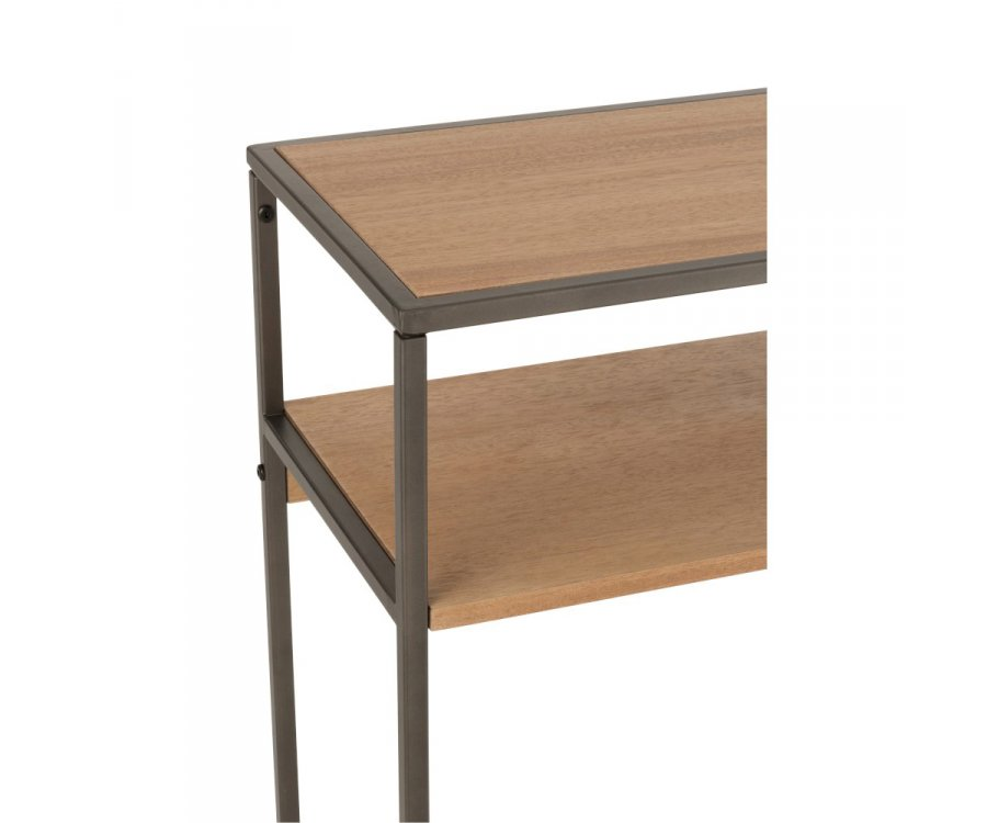 Console en bois et métal style minimaliste ZATI