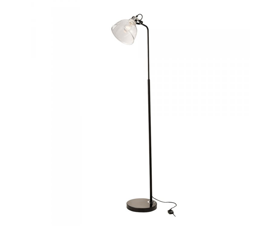 Lampadaire minimaliste en métal noir LUMAE