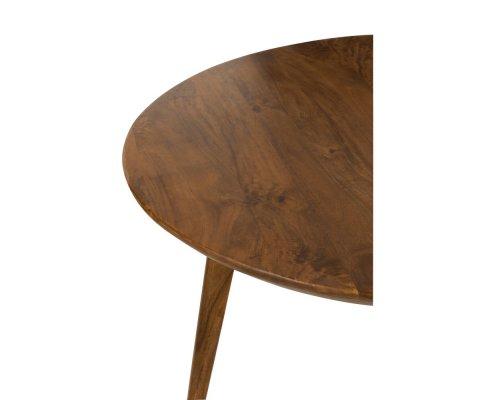 Table à manger ronde en bois de manguier SCIMA