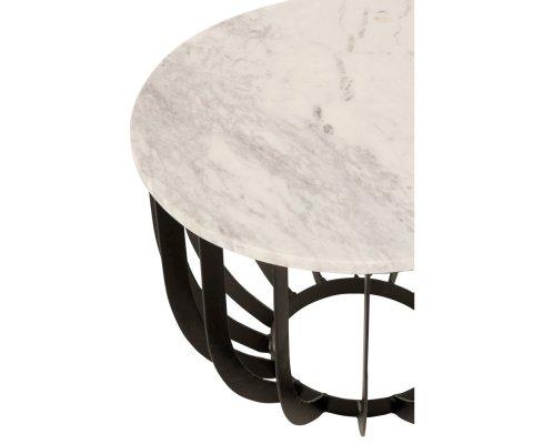 Table basse en métal plateau marbre ASAR