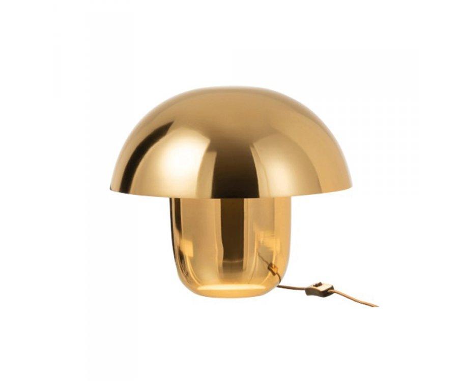 Lampe design champignon métal doré SEZIM