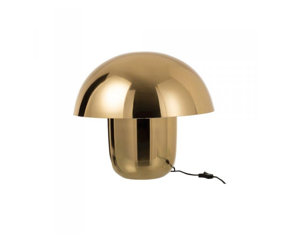 Lampe de table tendance en métal doré SEZIM