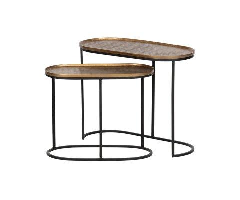 Tables gigognes métal plateau laiton EMBRACE