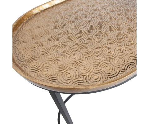 Tables gigognes métal plateau laiton EMBRACE - BePureHome