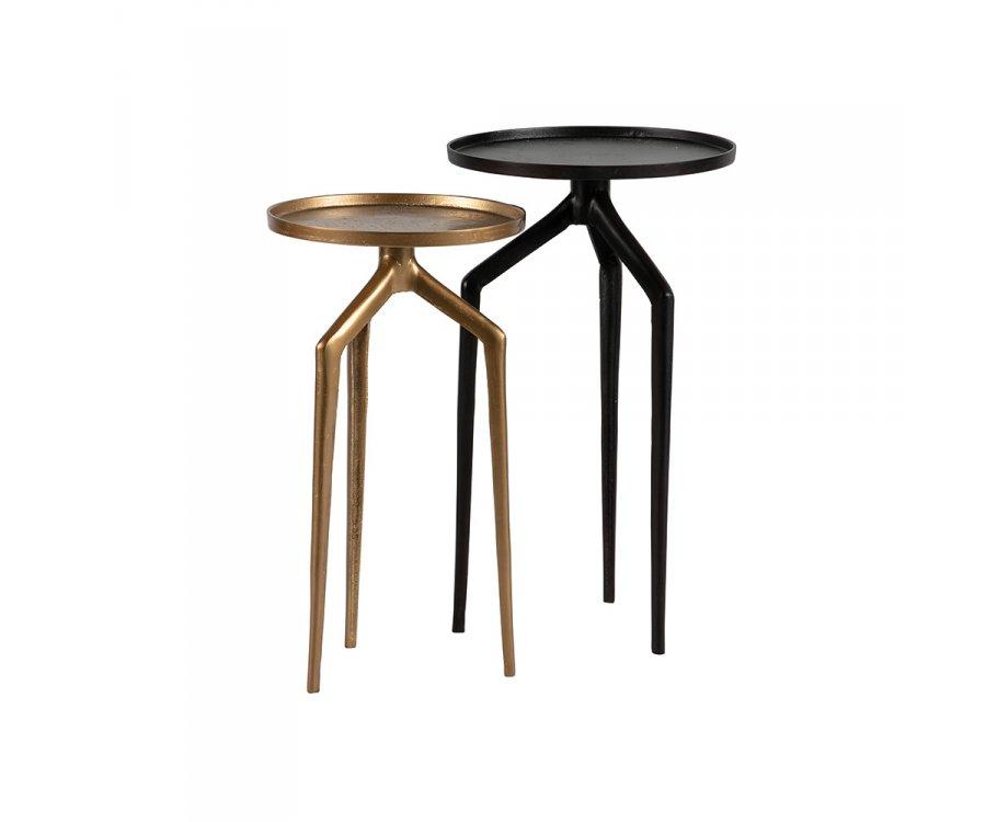Tables gigognes métal 2 couleurs BROIC - BePureHome