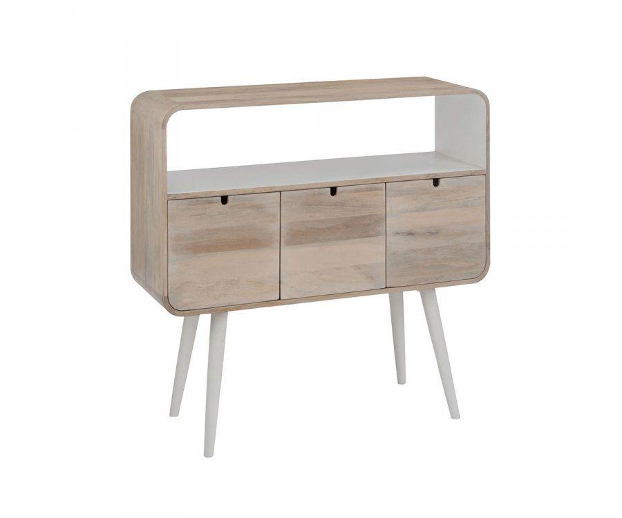 Console 3 tiroirs style moderne RONDO - 105 cm
