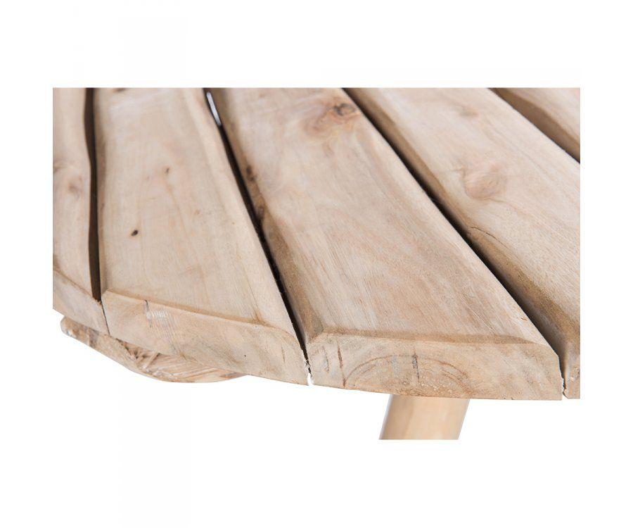 Table de bar ethnique ronde 90cm chêne naturel OAKY