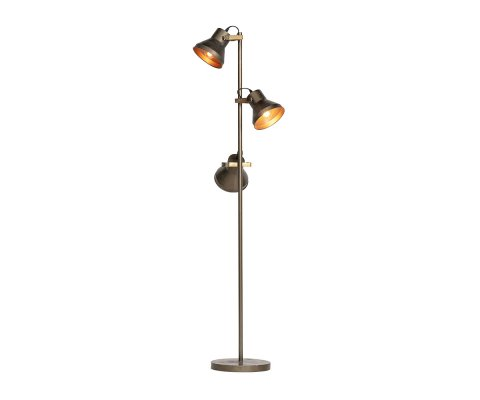 Lampadaire 3 projecteurs métal laiton PYLEN - BePureHome
