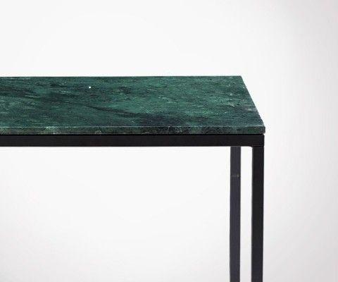 Table basse carrée marbre vert DREZ - 60cm